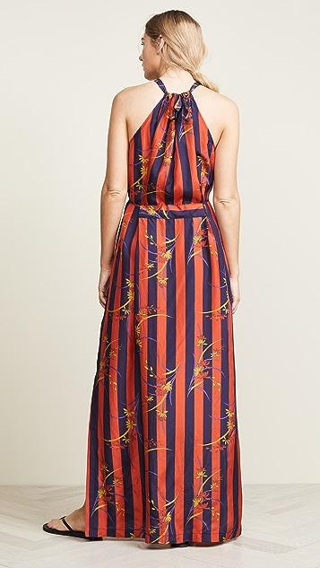 Raquel Allegra Floral Stripe Dress