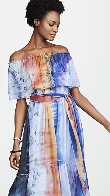 Raquel Allegra Ruffle Maxi Dress