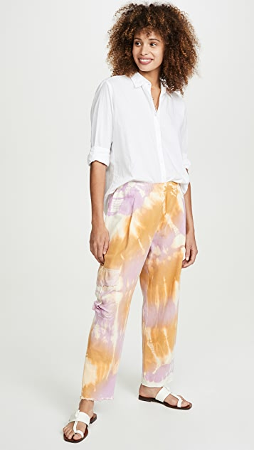 Raquel Allegra Silk Pocket Sweatpants