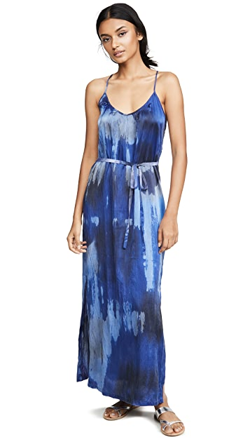Raquel Allegra Pintuck Slip Dress