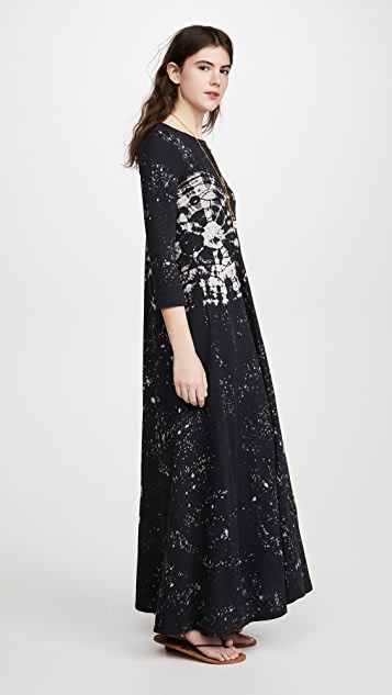Raquel Allegra Half Sleeve Maxi Dress