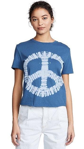 Raquel Allegra 和平标志扎染 T 恤