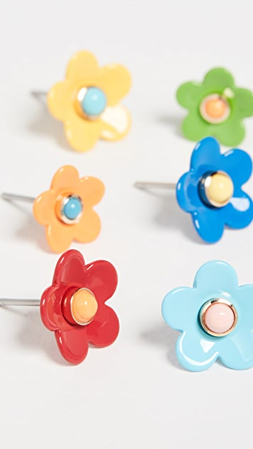 Roxanne Assoulin Flower Power Set of Stud Earrings