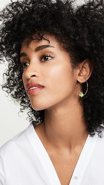 Roxanne Assoulin Flower Power Hoop Earrings