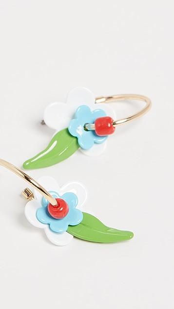 Roxanne Assoulin Небольшие серьги-кольца Flower Power