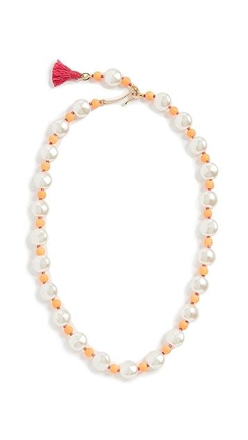 Roxanne Assoulin Pancake 人造珍珠项链