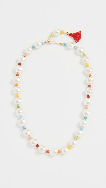 Roxanne Assoulin Pancake Imitation Pearl Necklace