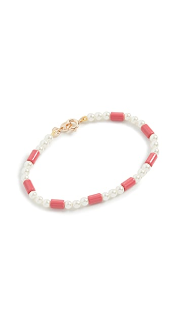 Roxanne Assoulin On Imitation Pearl Bracelet