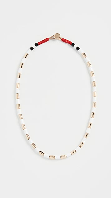 Roxanne Assoulin White Gilded U-Tube Necklace