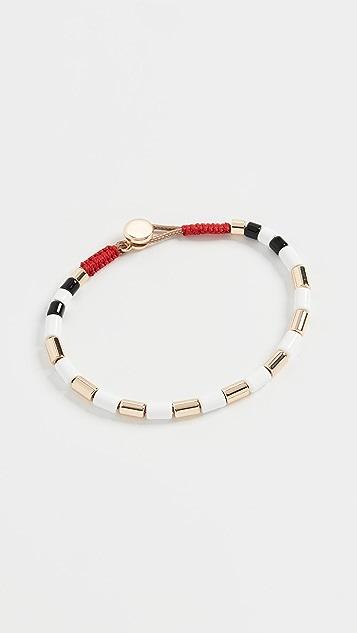Roxanne Assoulin Белый позолоченный браслет с U-образными трубчатыми бусинами