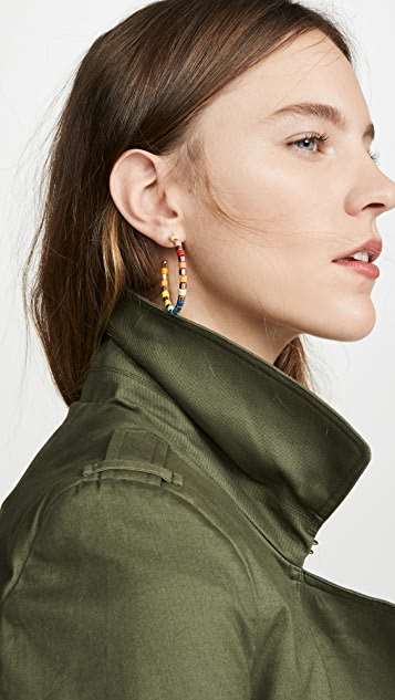 Roxanne Assoulin Golden Rainbow U-Tube Hoop Earrings