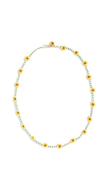 Roxanne Assoulin 雏菊绿色项链