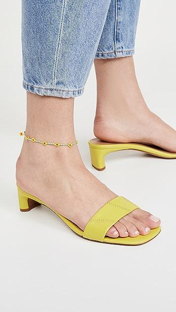 Roxanne Assoulin 雏菊绿色踝链