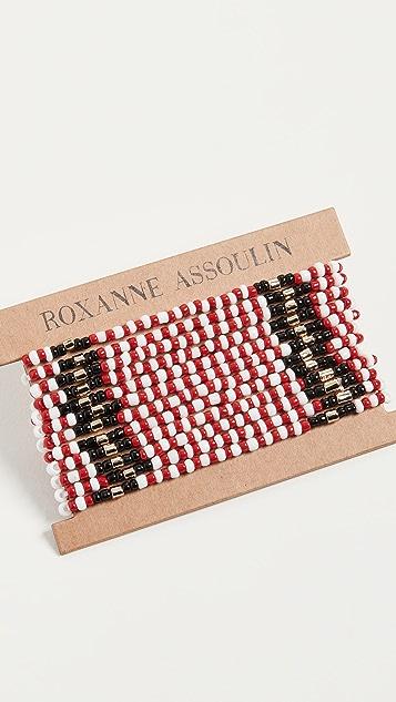 Roxanne Assoulin Красный браслет в лоскутной технике