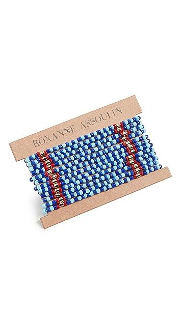 Roxanne Assoulin Голубой браслет в лоскутной технике