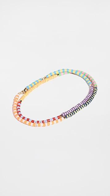Roxanne Assoulin Happy Stripes Brite Anklet 项链