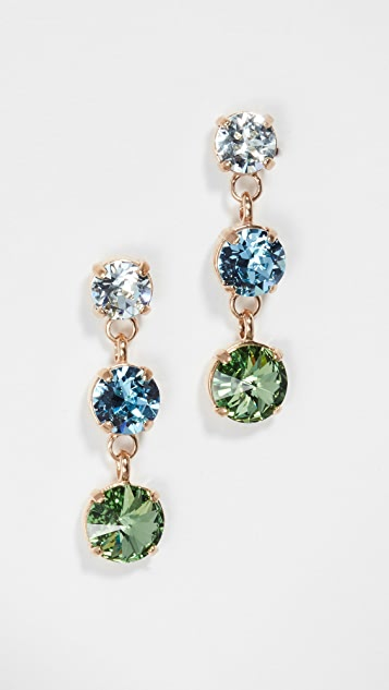 Roxanne Assoulin Indian Sapphire Just Us Three Earrings