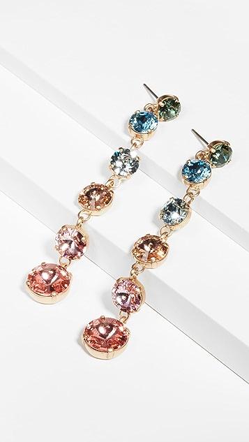Roxanne Assoulin Technicolor Mini Crystal Drop Earrings
