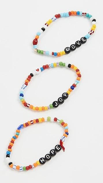 Roxanne Assoulin Hope Joy Love Bracelet Set