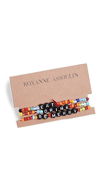 Roxanne Assoulin Eat Drink Be Merry Bracelet Set