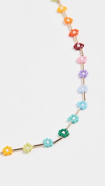 Roxanne Assoulin Rainbow Daisy Necklace