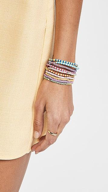 Roxanne Assoulin Happy Stripes Set of Ten Bracelets