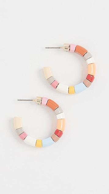 Roxanne Assoulin Rainbow Gelato Hoop Earrings