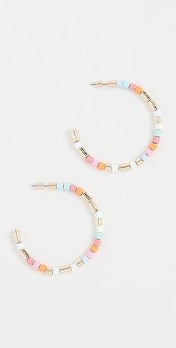 Roxanne Assoulin - 淡彩色圈式耳环