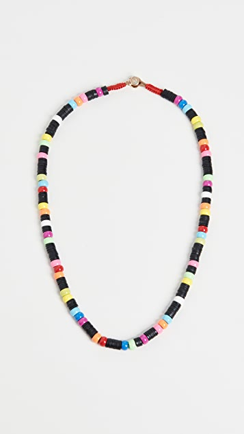 Roxanne Assoulin Neon Heishi Donut Necklace