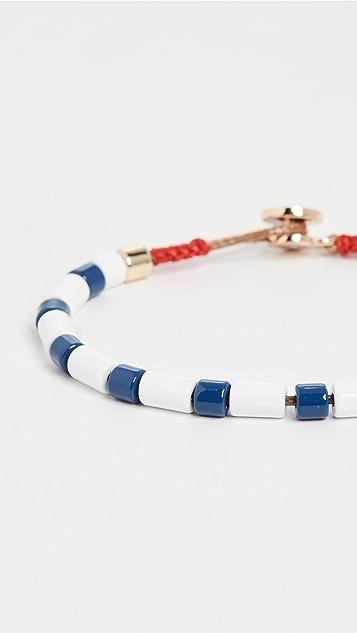 Roxanne Assoulin 海军蓝和白色 U 型手链