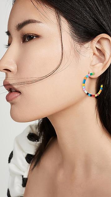 Roxanne Assoulin U-Tube 圈式耳环