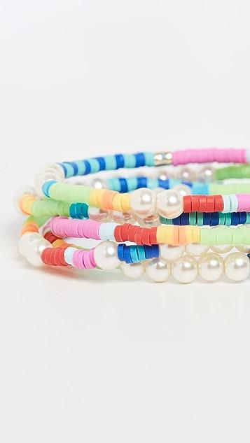 Roxanne Assoulin Set of Five Bracelets