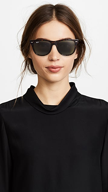 fdae274db34cc ... Ray-Ban RB2140 Wayfarer Outsiders Oversized Sunglasses ...