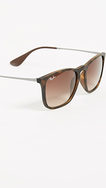 Ray-Ban RB4187 Chris 方形太阳镜