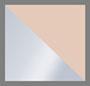 матовый серебряный/коричнево-розовое зеркало