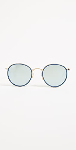 Ray-Ban - RB3517 Mirrored Round Folding Icon 太阳镜