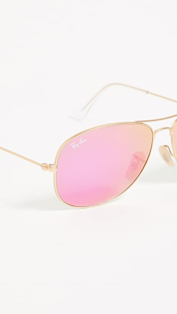 Ray-Ban RB3362 Mirrored Shrunken Aviator Sunglasses
