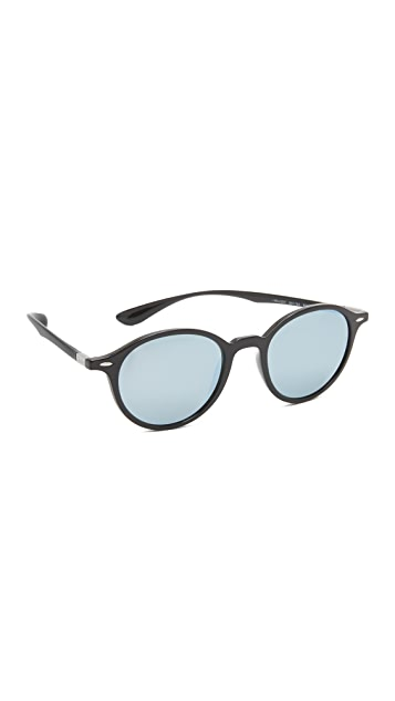 d541c2b1b1892 Ray-Ban Tech Light Force Mirrored Round Sunglasses