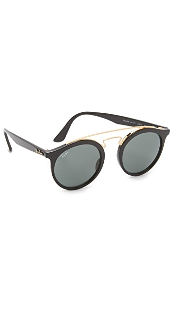 1af82db5a24 Ray-Ban Double Bridge Round Sunglasses