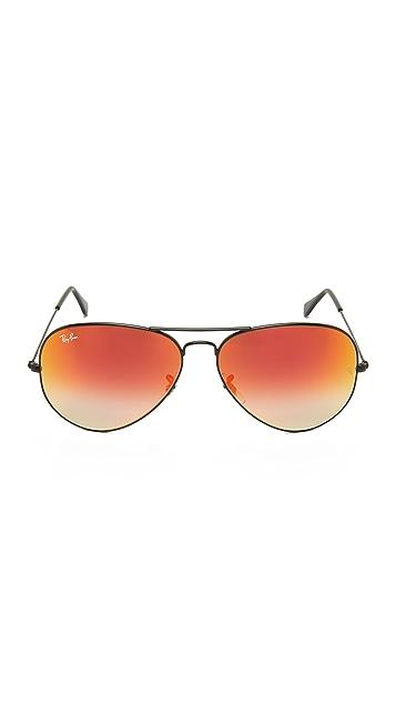 Ray-Ban Oversized Mirrored Aviator Sunglasses