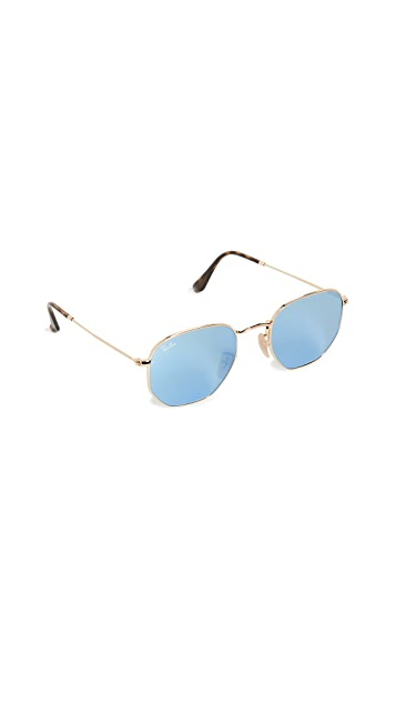 Ray-Ban RB3548N Hexagonal Mirrored Sunglasses