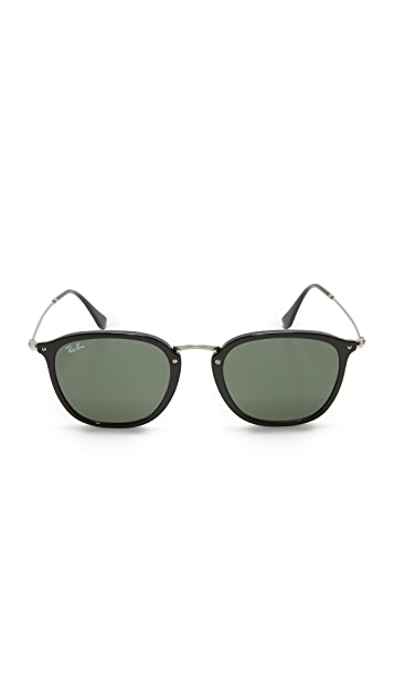 Ray-Ban RB2448N Icons Metal Bridge Square Sunglasses