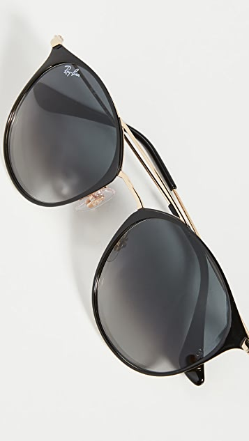 Ray-Ban RB3546 Round Aviator Sunglasses