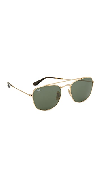 ray ban square aviator sunglasses