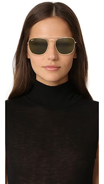 Ray-Ban RB3557 Caravan Square Aviator Sunglasses