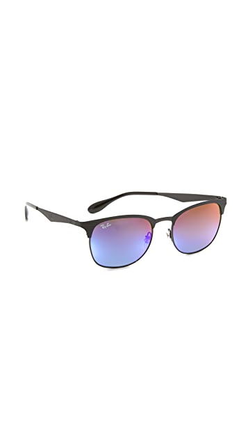 Ray-Ban Matte Clubmaster Sunglasses