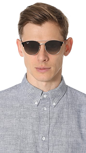 Ray-Ban Double Bridge Round Sunglasses