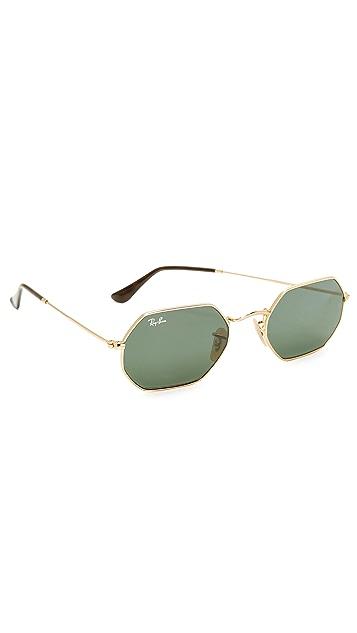 fd07f46414c16 Ray-Ban Octagon Flat Lens Sunglasses