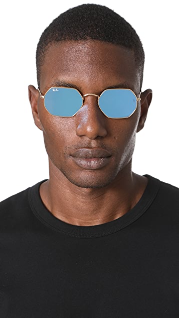 Ray Ban Octagon Flat Lens Sunglasses East Dane