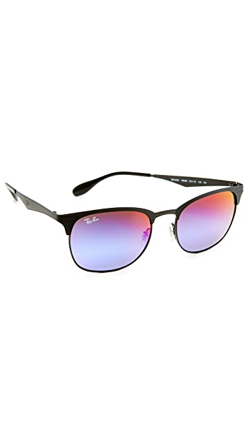 5dccd4314bc1 Ray-Ban Club Round Sunglasses | EAST DANE